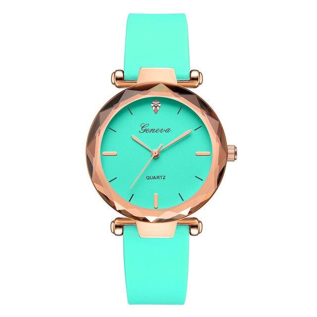 Genève mode montres femmes horloge analogique Quartz montre-bracelet Silicone bracelet diamant Reloj Mujer Simple haut pour femme marque montre 40
