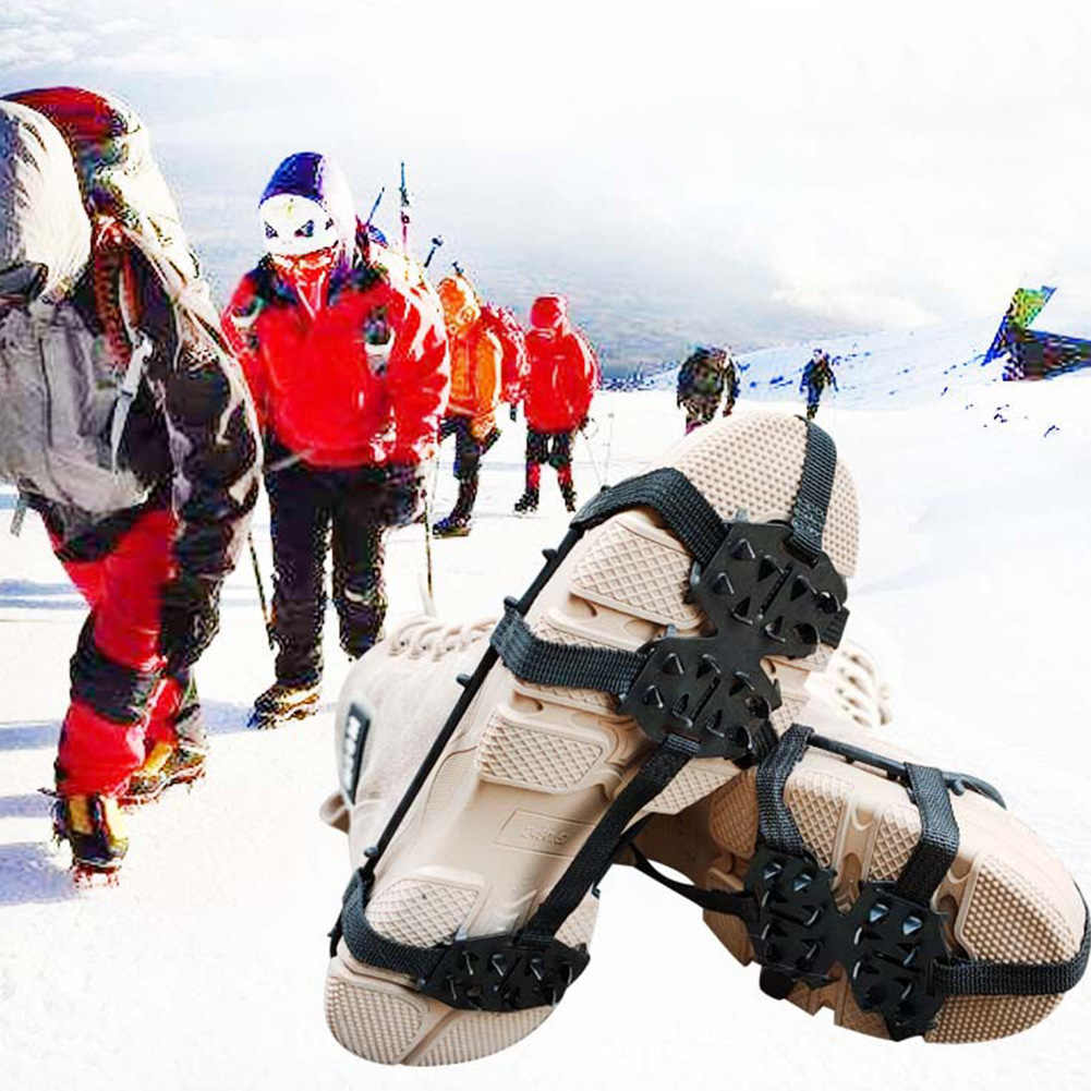 Winter Multipurpose Portable Universal Sports 24 Teeth Ice Gripper Non Slip Cleats Climbing Hiking Spikes Outdoor Shoes Crampons