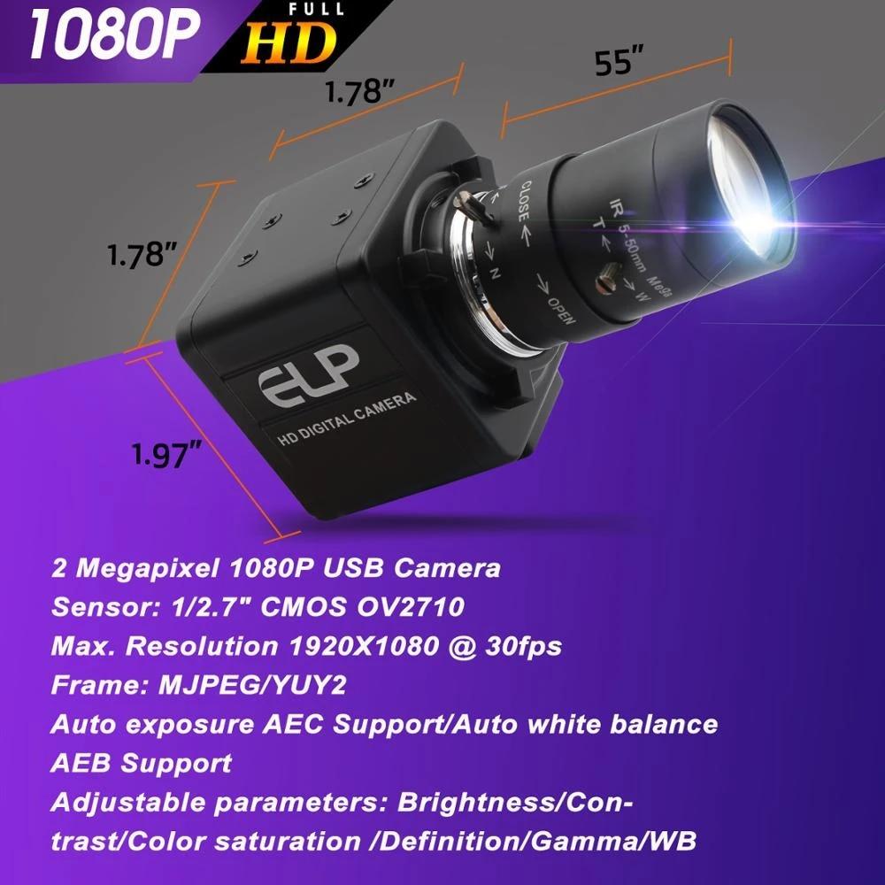 5 50mm Varifocus objektif 2MP USB güvenlik kamerası 1920*1080 CMOS OV2710  video kaydedici kamera atm kiosk için otomatik süt satış otomatı camera  phone camera mousecamera 808 - AliExpress