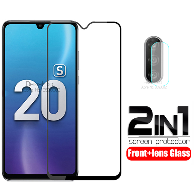 2 In 1 Camera Lens Glass On Honor 20s Tempered Glass Screen Protector For Huawei Honor 20S Honer 20 S MAR-LX1H Protective Film