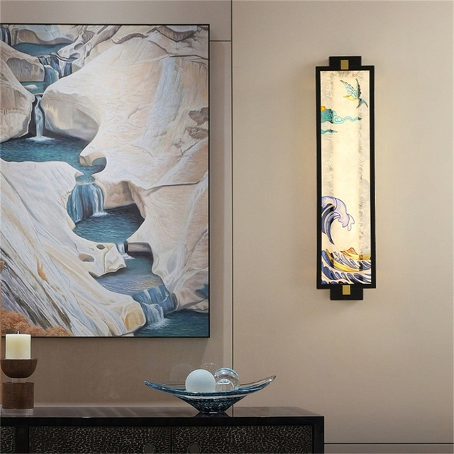Фото домашние настенные светильники oufula креативные декоративные цена