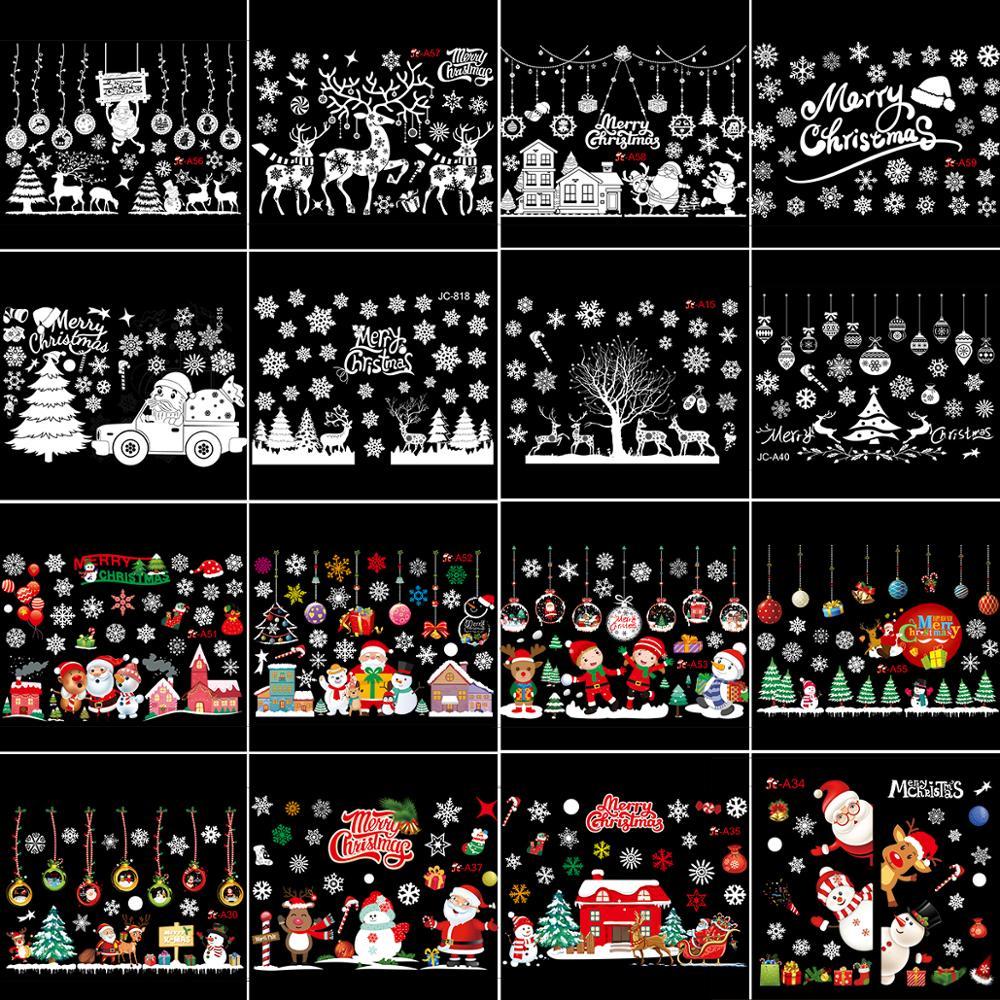 Feliz Natal Feliz Vinil Arte Removível De Veado Janela Porta Adesivo Decoração De Parede