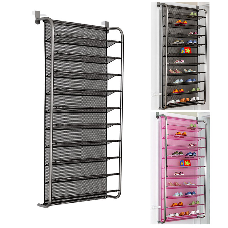 MultiLayer Wall-mounted Shoe Rack Hallway Space Saving Shoe Organizer Over The Door Shoes Hanger Shoe Cabinet For Home Furniture