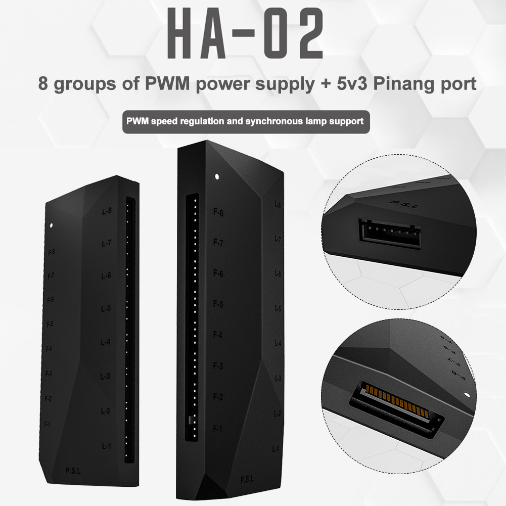 5V 3pin Home PWM Power Supply Heat Dissipation CPU Cooler Computer Components Office Multifunction Temperature Control Practical