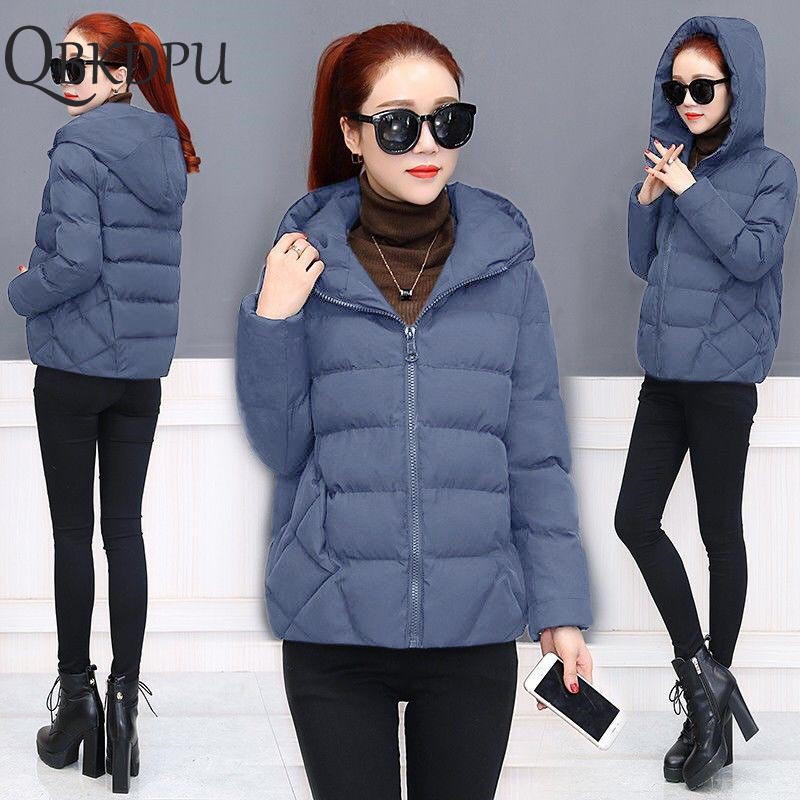 2019 New Women Winter Puffer Jacket Ultra-light Coat Fashion Casual Loose Outerwear Short Female Padded Parkas Plus Size M-5xl