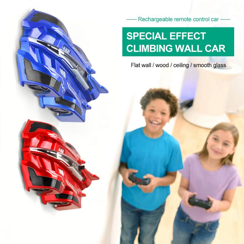 RC Wall Climbing Mini Car Toy Model Bricks Wireless Electric Remote Control Drift Race Toys For Children Birthday Christmas Gift