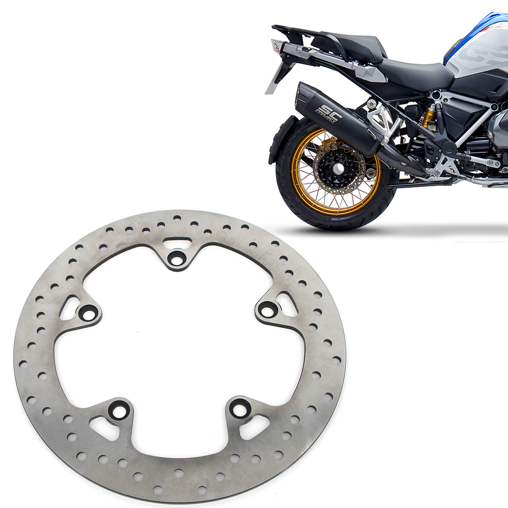 Motorcycle CNC Rear Brake Disc Brake Rotors For <font><b>BMW</b></font> R1200GS ABS <font><b>2004</b></font> 2005-2012 <font><b>R1200</b></font> R 1200 <font><b>GS</b></font> adv Adventure Stainless Steel image