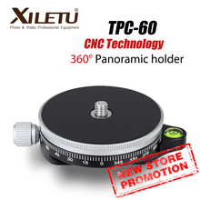 XILETU TPC 60 360 stopni głowica statywu panoramiczny zacisk aluminiowy Adapter monopody Quick Release Plate Arca Swiss do aparatu DSLR