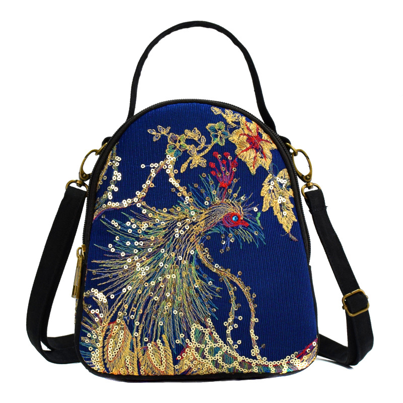 2020 Bags For Women Travelethnic Embroidery Portable Diagonal Canvas Synthetic Leather Embroidery Canvas Bag Vintage Lady's  - buy with discount