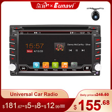 Eunavi 2 Din Android 10 Car Multimedia Player Dvd Radio GPS Navigation Auto 2din IPS Touch Screen 4G 64GB DSP WIFI Audio BT5 USB