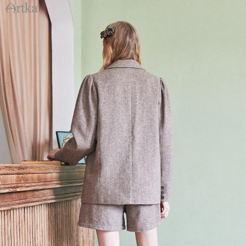Artka 2020 Зимний новый женский комплект блейзеров винтажный