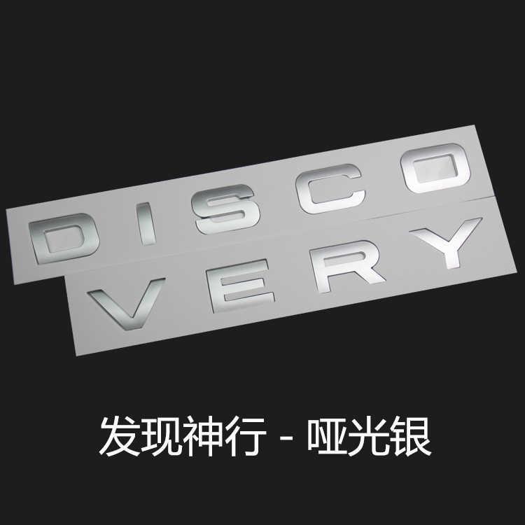 Preto brilhante ouro cinza prata letras emblema emblema capô do carro tronco traseiro logotipo adesivo para land rover descoberta esporte acessórios