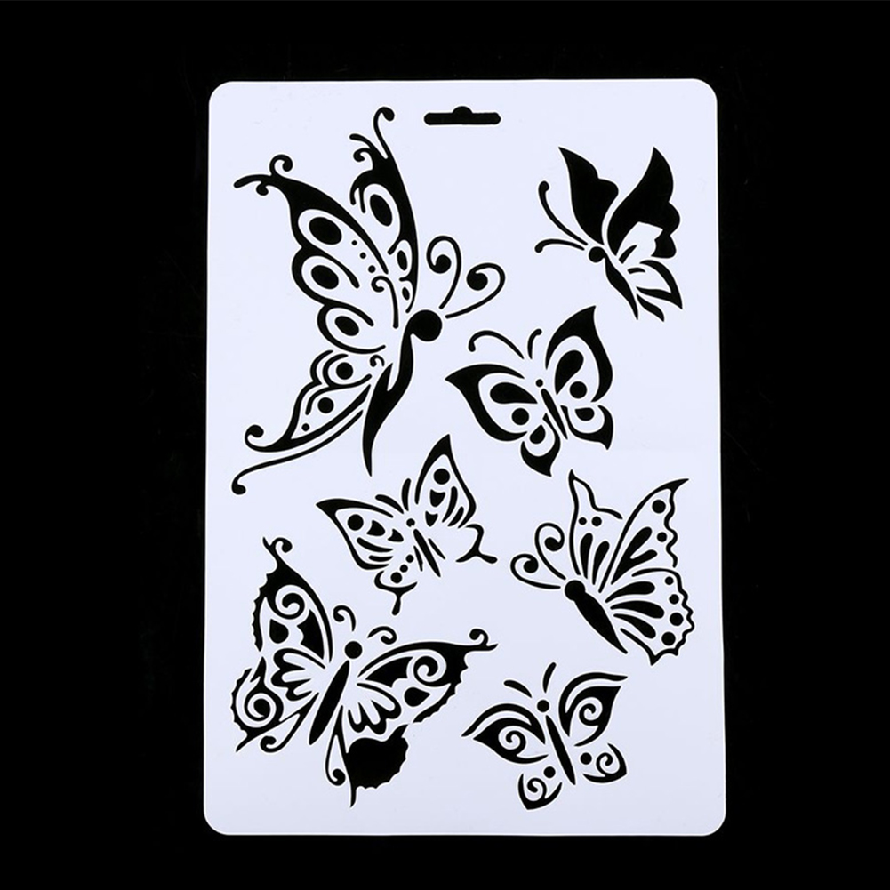 Hot Selling PVC DIY Craft Butterfly Stencils Template Painting Scrapbooking Stamps Album
