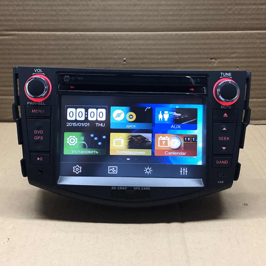 BYNCG 8 inch 2 Din Car DVD Player FOR <font><b>TOYOTA</b></font> <font><b>RAV4</b></font> <font><b>2006</b></font>-2012 GPS Navigation in Dash Car PC Stereo TV gps Radio BT SD USB image