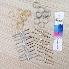Pin-Connector Bead Prisms Hanging Crystal Octagonal Camal Connecting-Lamp-Parts Pendent