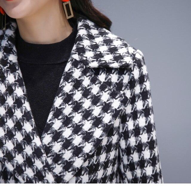 Купить для женщин с рисунком «гусиные лапки» длинная куртка ветровка картинки цена
