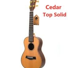 Ukulele Top Solide Zeder 23 26 Zoll Matte Konzert Tenor Akustische Elektrische Gitarre Ukelele 4 Strings Guitarra Uke