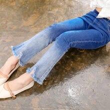 Girls Boot Cut Pants Jeans Childrens Clothing Big Child Gradient Color Fashion Bell-bottoms Korean Kids Denim Trousers