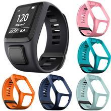 سيليكون استبدال معصمه حزام (استيك) ساعة حزام لالطبل عداء 2 3 شرارة 3 GPS الرياضة ووتش توم 2 3 سلسلة لينة الذكية الفرقة