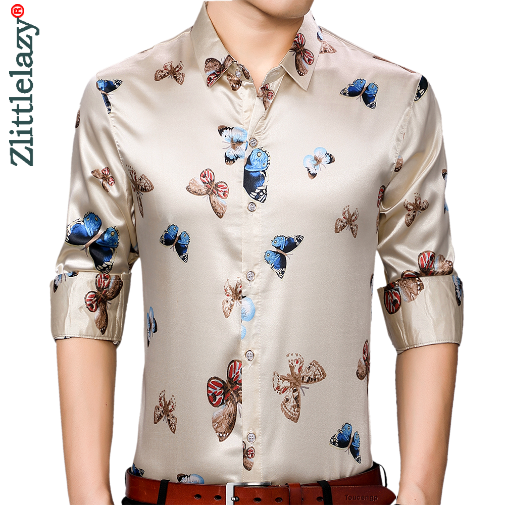 2020 brand long sleeve men social shirt streetwear casual butterfly shirts dress mens slim regular fit clothes fashions 90323 1