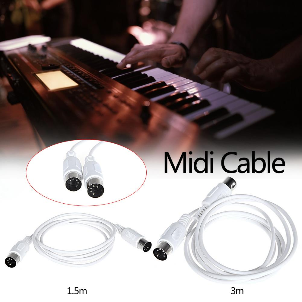 MIDI Line Music Editing Line Double Head Five Needle Connecting Wire Electronic Organ Thread Electronic Musical Instrument Parts