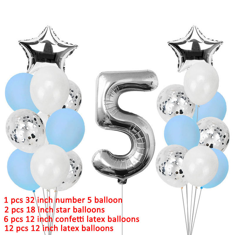 Image 3 - Lincaier I Am Five Kraft Paper Banner 5 Years Birthday Boy Girl 5th Balloons Party Decorations Fifth Bunting Garland Pink Blue-in Ballons & Accessories from Home & Garden
