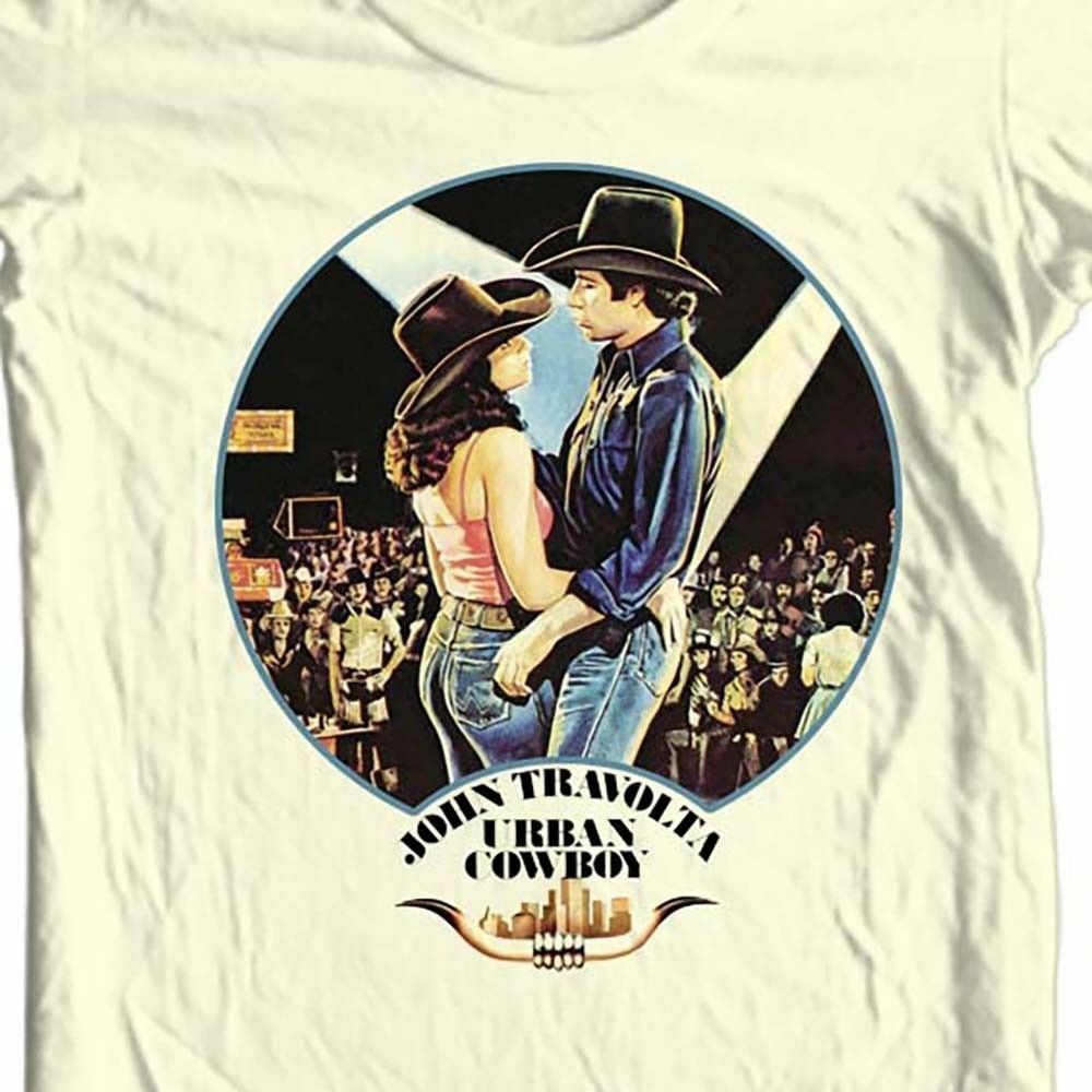 Urban Cowboy T Shirt Free Shipping Retro 1980S Country Music Movie Cotton Tee image