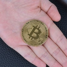 1PC Creative Souvenir Art Collection Gold Plated Physical Bitcoins BTC with Case Gift Physical Metal Antique Imitation Silver