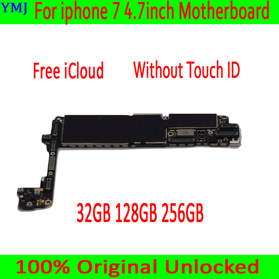 Good Tested Motherboard for iphone 7 4.7inch motherboard, iCloud unlocked 32GB 128GB 256GB Without Touch ID Logic boards-in Mobile Phone Antenna from Cellphones & Telecommunications
