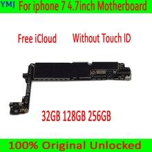 Iyi test edilmiş anakart iphone 7 4.7 inç anakart, iCloud unlocked 32GB 128GB 256GB Touch ID olmadan mantık panoları