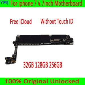 Image 1 - لوحة أم مختبرة جيدة لهاتف iphone 7 4.7 بوصة ، لوحة رئيسية iCloud غير مغلقة 32GB 128GB 256GB بدون لوحات منطق معرف باللمس