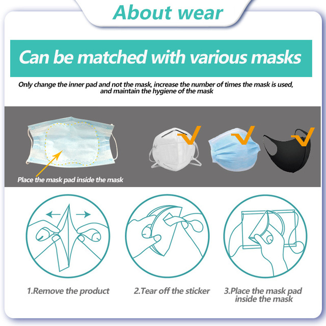 [Mask Gasket]50pcs 3 Ply Disposable Masks Gasket For Face Mouth Flu Facial Mask Pad For N95 Ffp3 Ffp2 Kf94 3