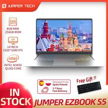 Ультратонкий ноутбук EZbook S5 на windows 10, 8 ГБ, 256 ГБ, Intel N3450, два ядра, Win 10, 14 дюймов, IPS-экран 1920*1080