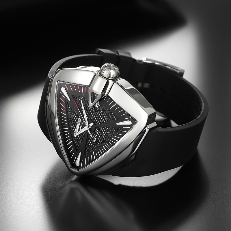 OUPAI 2021 New Arrival Triangle Ventura Automatic Watch Men Sport Waterproof with Calendar Rubber Strap Limited Edition Watch