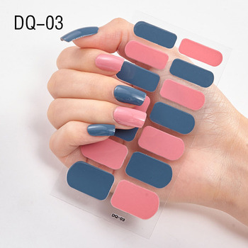 14pcs/sheet Glitter Gradient Color Nail Stickers Nail Wraps Full Cover Nail Polish Sticker DIY Self-Adhesive Nail Art Decoration 131