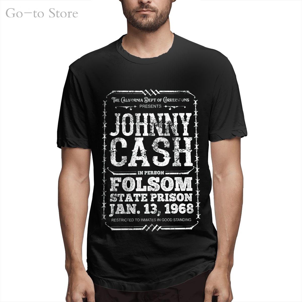 Bargeld Zu Folsom Prison, Distressed Kühlen Und Lustige Kurzarm Casual Mode Baumwolle T-shirt