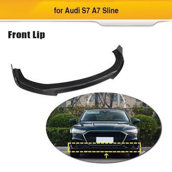 Car Front Bumper Lip Splitter Diffuser For Audi A7 Sline S7 Sedan 2019 Car Spoiler Lip Apron