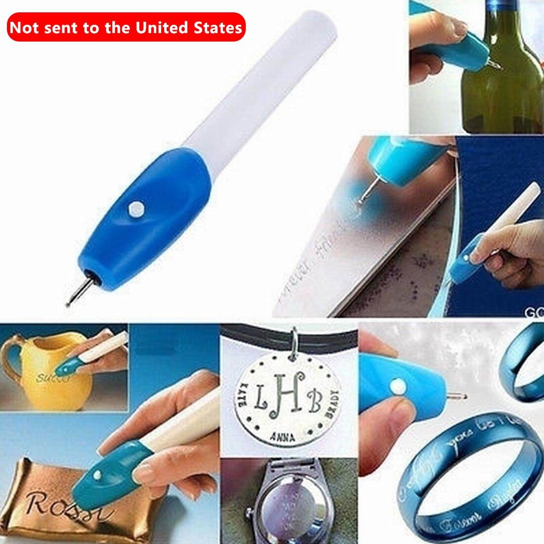 Mini pluma de grabado máquina de tallado eléctrico herramienta de grabado de acero joyería Kit de pluma