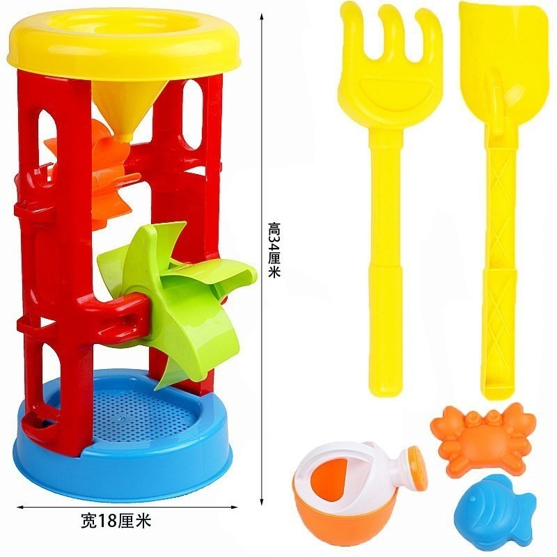Summer Beach Baby Toys Animals Cartoon Kinetic Sand Castle Molds Bucket And Spade Jato De Areia Strandbeest Model Kit CC50BT