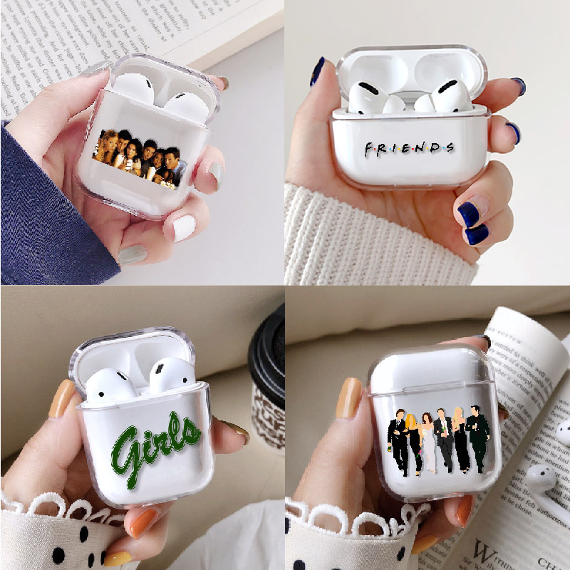 TV Friends Girls Earphone Case For Apple iPhone Charging Box For AirPods Pro Hard Transparent Protective Cover Skin Accessories