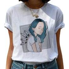 Billie Eilish Bad Guy Harajuku T Shirts Women Ullzang Funny Cartoon T-shirts 90s Graphic Ts