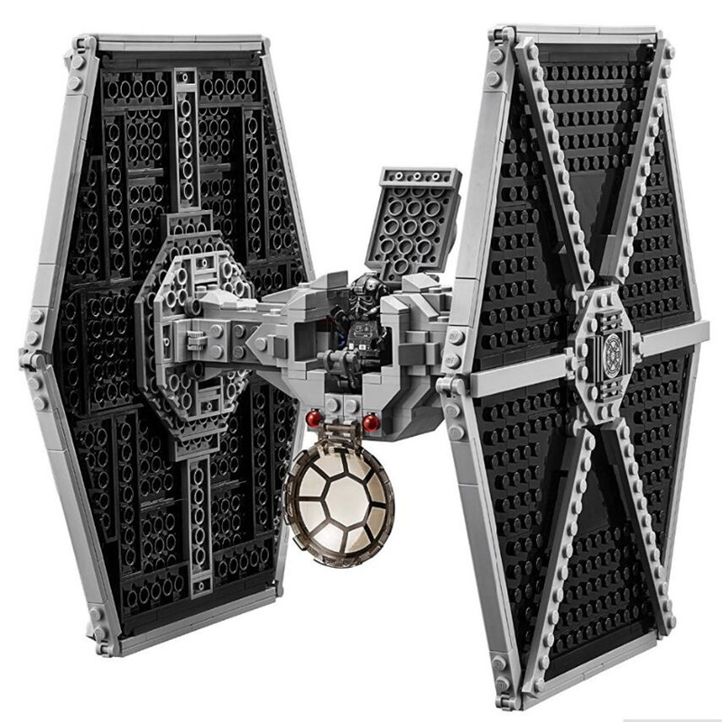 In Stock StarWars Imperial TIE Fighter Costruzioni Models  Building Blocks Toys For Children With Legoinglys Star Wars  75211