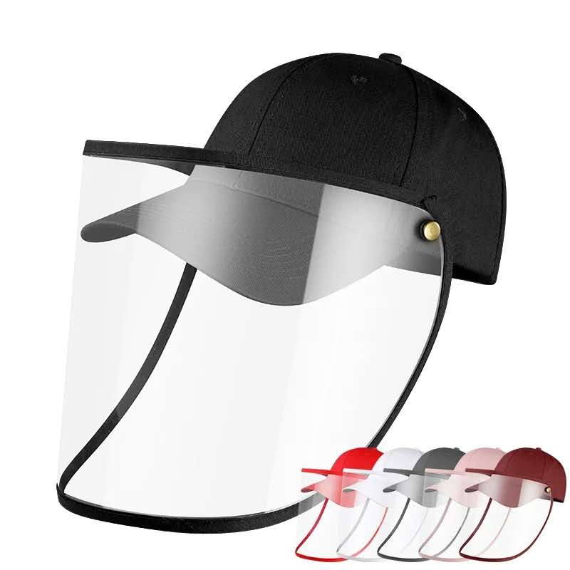 New Face Shield Hat Head  Eye Protective Cap Anti-saliva Anti-Dust Hat Removable Face Cover  Baseball Cap Dropshipping