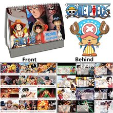 2020 Anime ONE PIECE Desk Calendar Luffy Roronoa Zoro Cartoon Calendars Daily Schedule Planner 2019.01~2019.12(China)