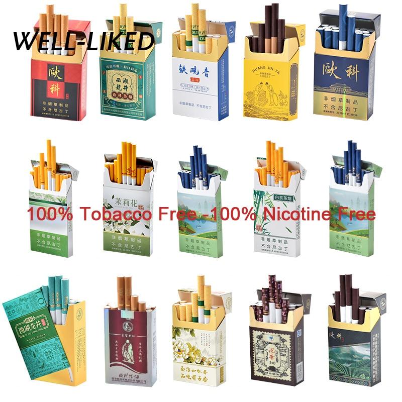 1 Pack Tobacco Nicotine Free Tea Cigarette Smoking Tea Herbal Cigarettes Clearing Healthy Cigarette Tea 50 Pcs Exploding Beads