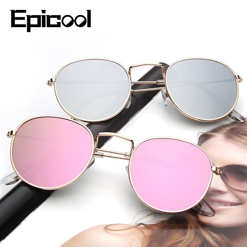 Epicool Sunglasses Women Alloy Square Frame Sun Glasses Classic Ladies Polarized Mirror Sunglasses Oculos UV400