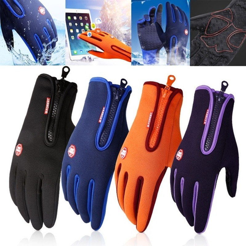 Winter Women Men Gloves Touch Screen Windproof Thermal Outdoor Ski Warm Gloves