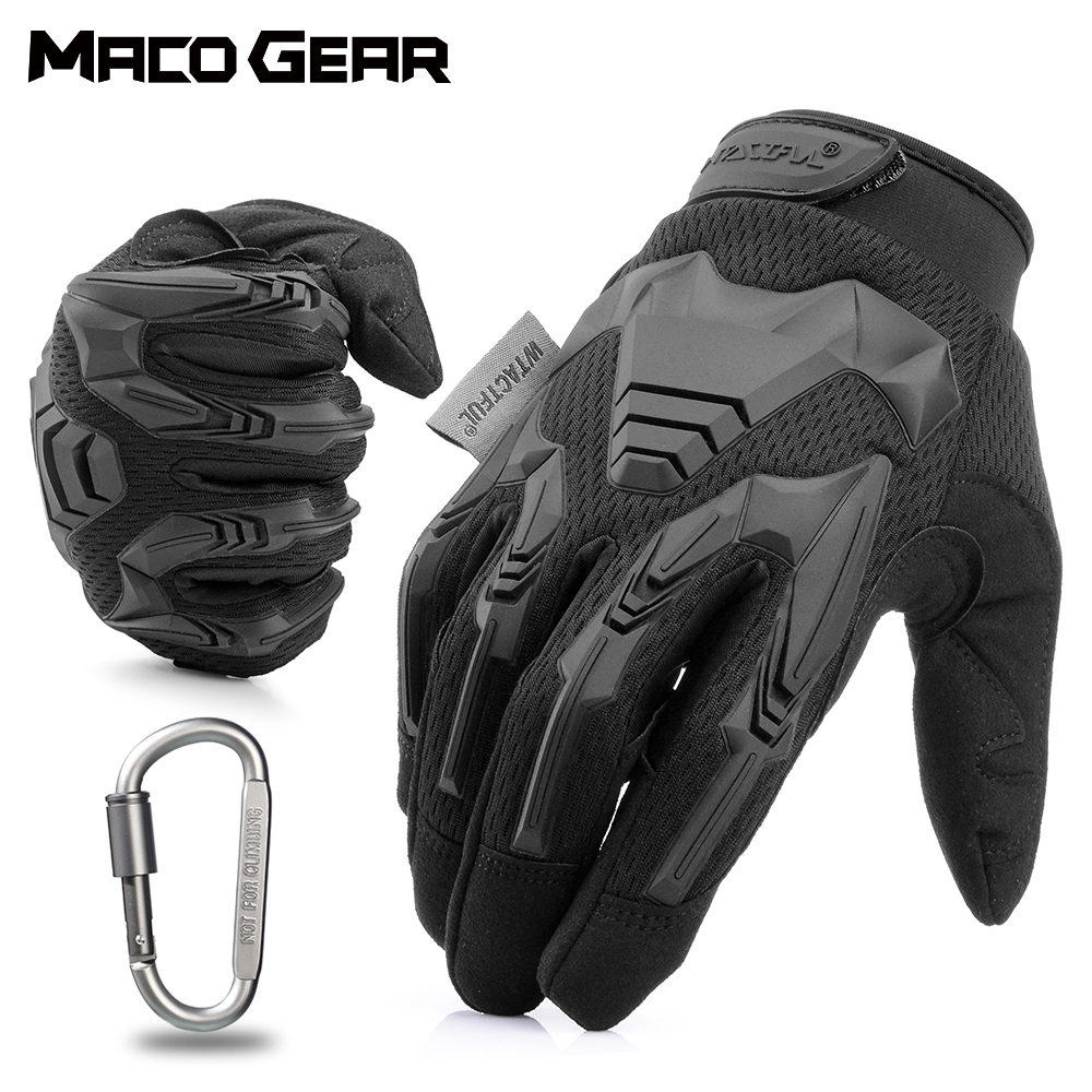Outdoor Cycling Gloves Bike Windproof Sport Hiking Tactical Riding Motorcycle Shockproof MTB Full Finger Bicycle Glove Men Woman