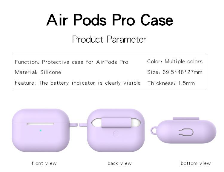 Защитный чехол для airpods pro беспроводной bluetooth силиконовый