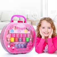 Nouvelle princesse maquillage cosmétiques ensemble jouet vernis à ongles maquillage Kits mignon jouer maison enfants filles cadeau sac à main semblant jouer jouet